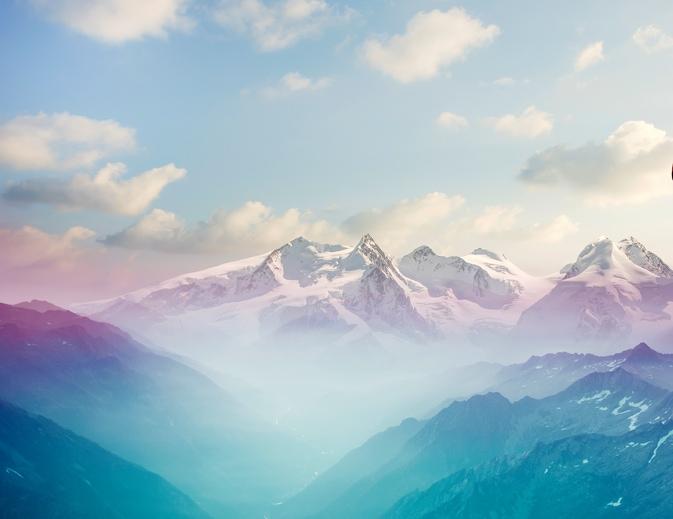 Una cima raggiunta è il bordo di confine tra il finito e l'immenso