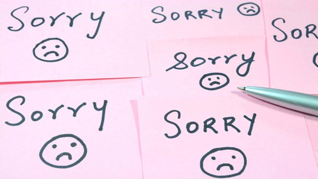 4 cose per cui smettere di chiedere scusa sul lavoro