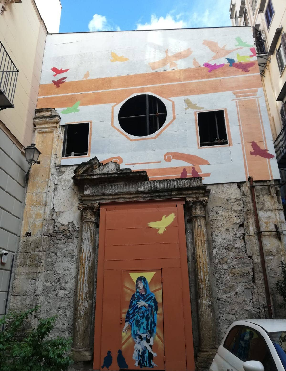 Arte urbana a Palermo: rivive la chiesa di Santa Sofia dei Tavernieri