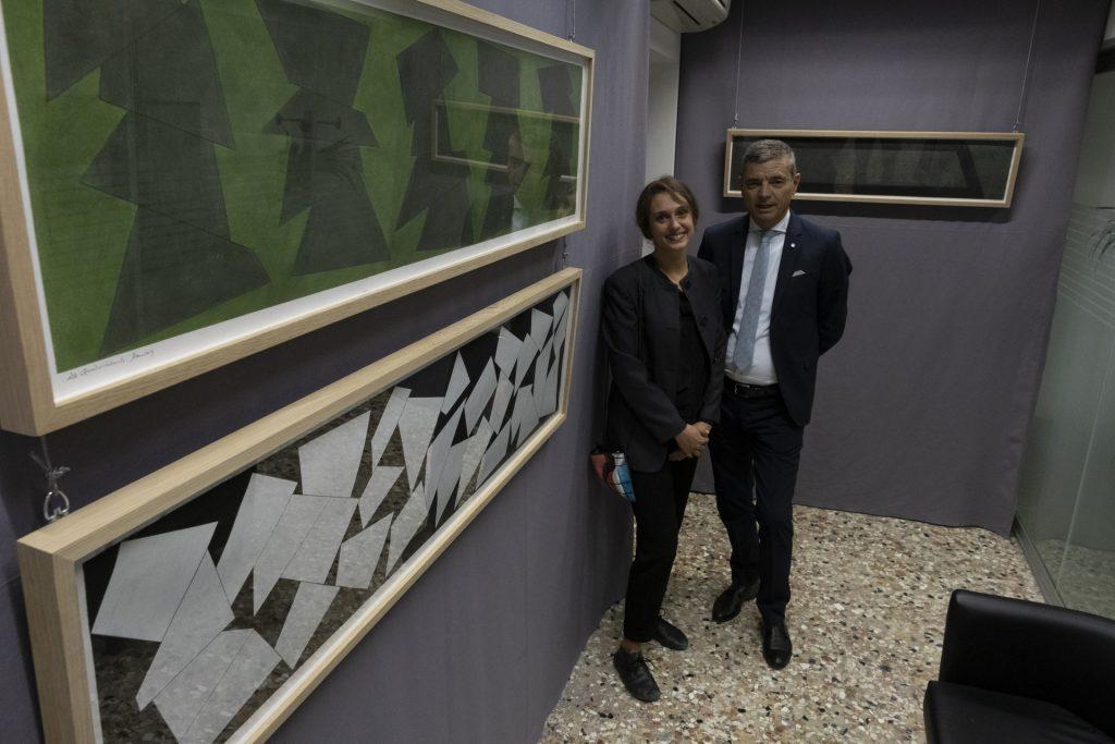 A Venezia le opere di David Tremlett, quadri come oggetti tridimensionali