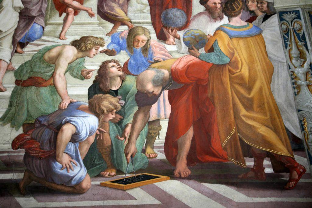 Raffaello è diventato grande (anche) grazie alla competizione con Michelangelo
