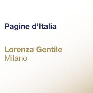 Pagine d'Italia – Lorenza Gentile – Milano