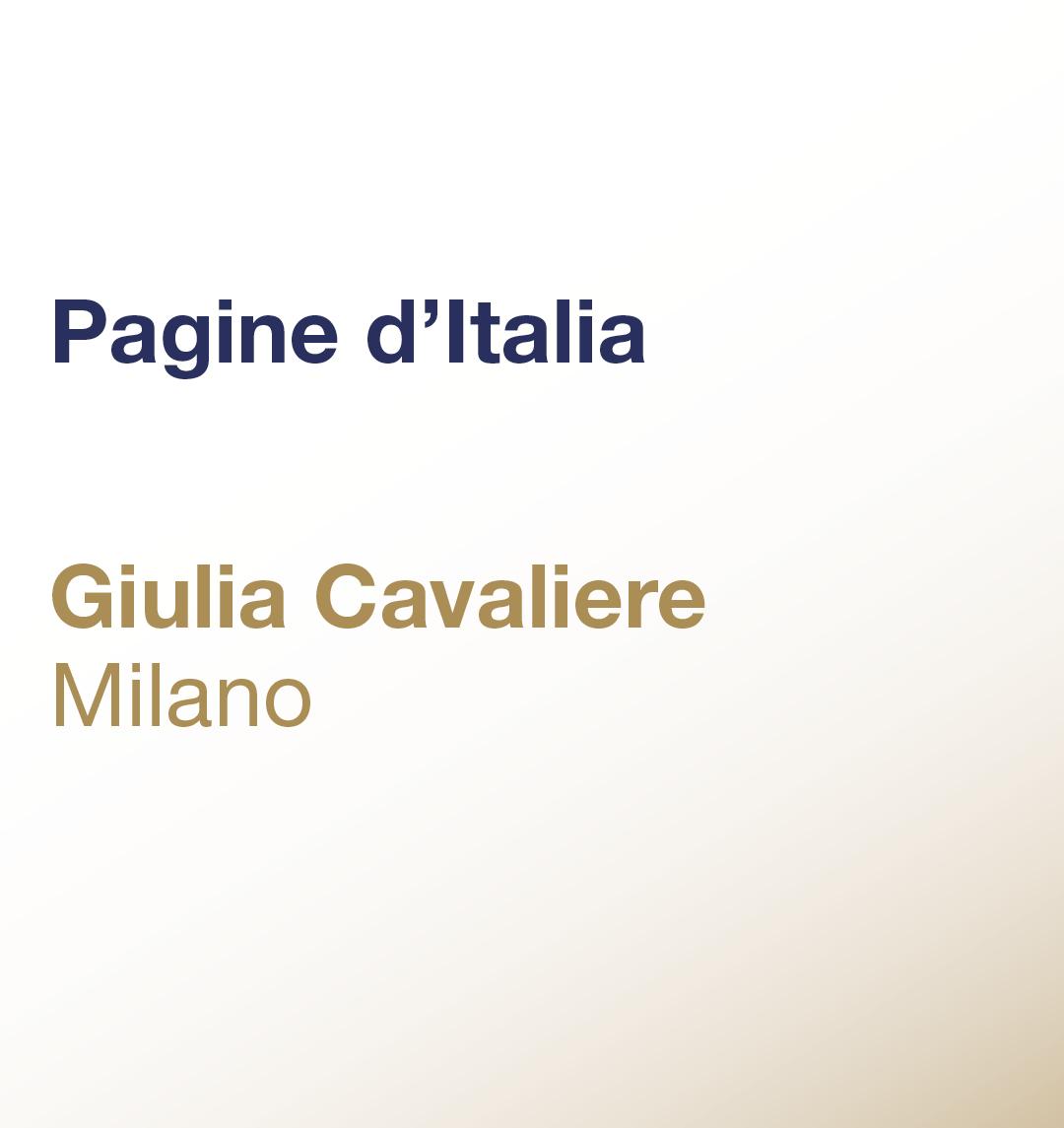 Pagine d'Italia – Giulia Cavaliere – Milano