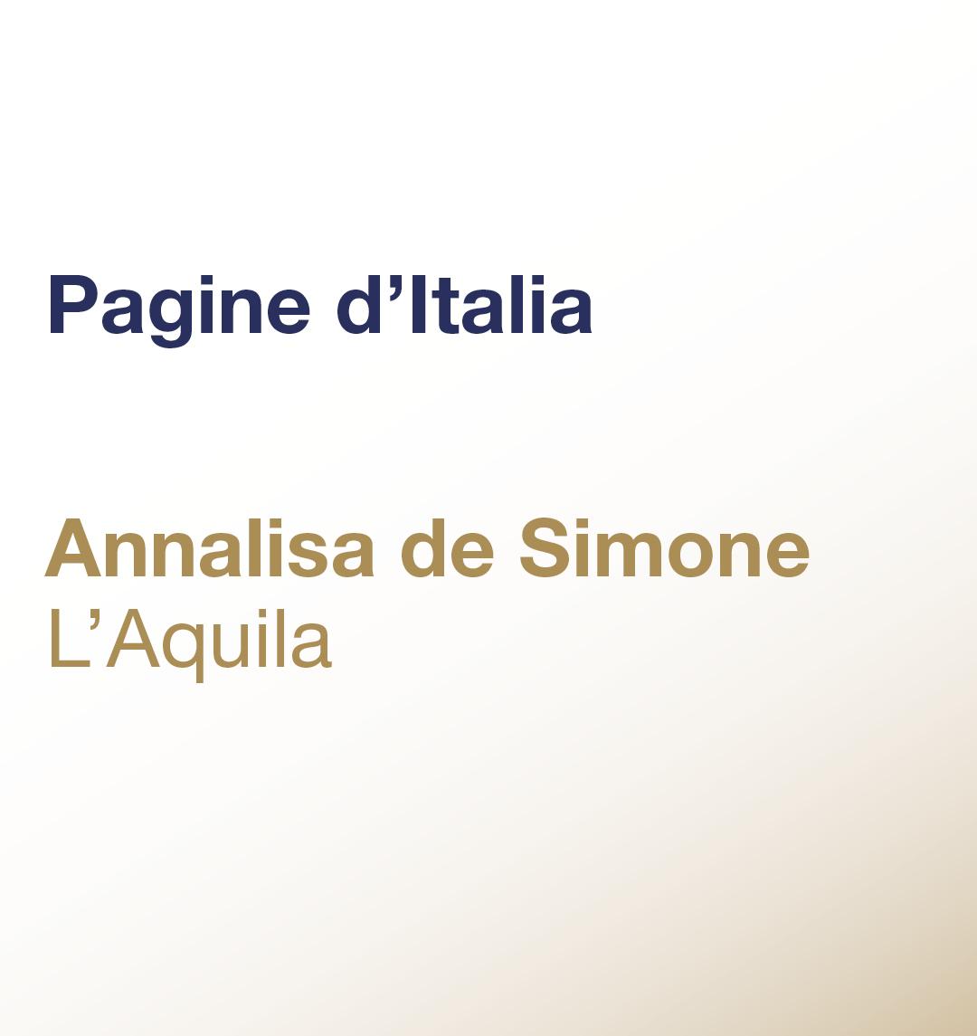 Pagine d'Italia – Annalisa De Simone – L'Aquila