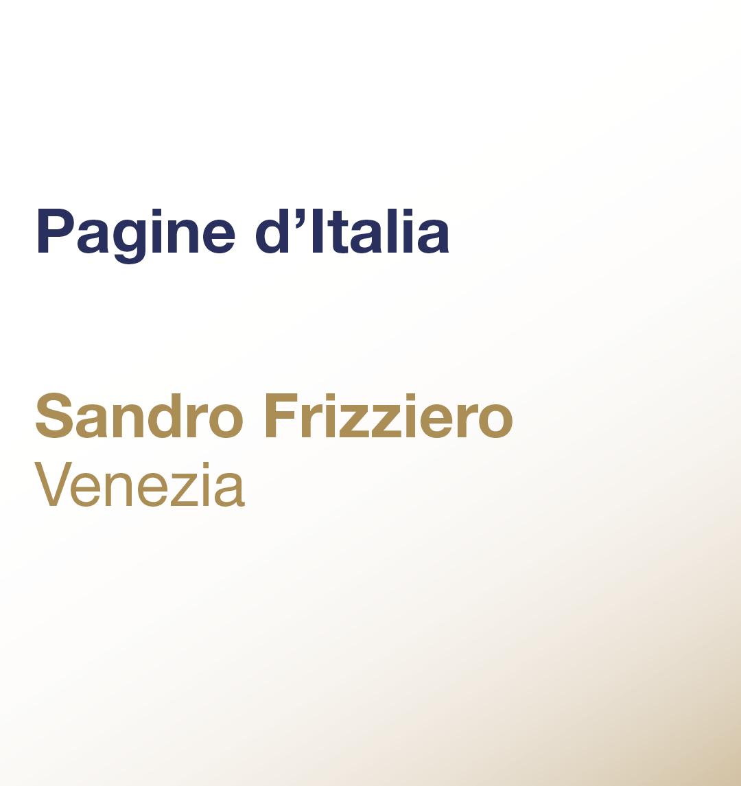 Pagine d'Italia – Sandro Frizziero – Laguna di Venezia
