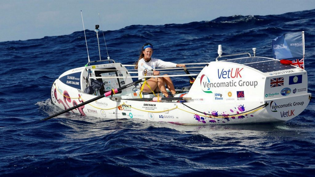 Jasmine Harrison, la donna piu' giovane ad aver attraversato l'oceano Atlantico